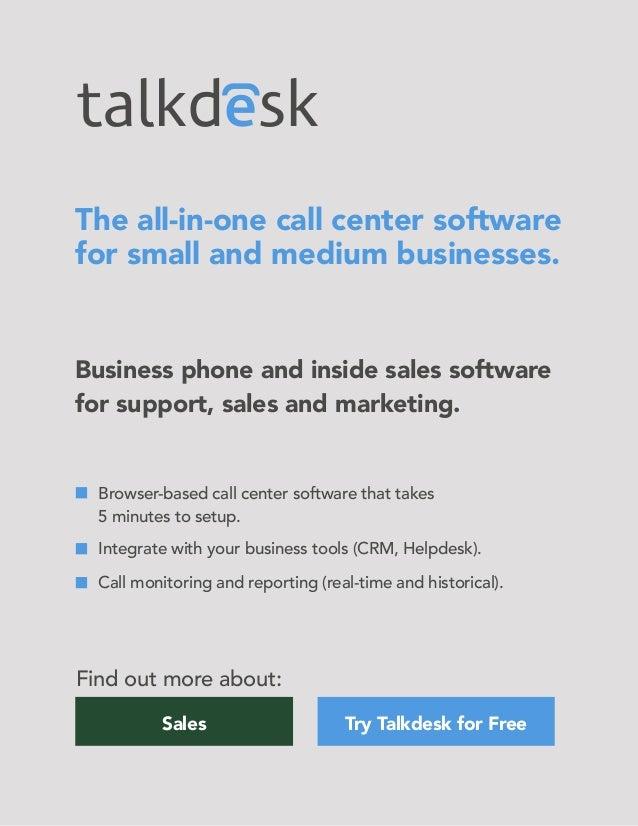 Talkdesk Call Center Software - Sales Venues Etiquette & Processes To…