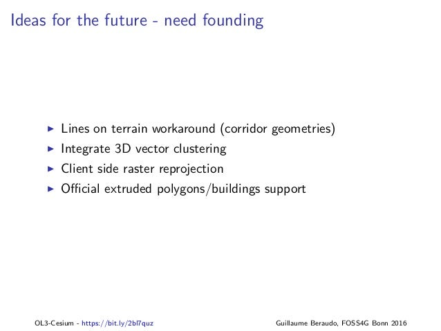 OL3-Cesium: 3D for OpenLayers, FOSS4G