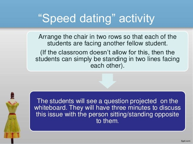 Jan 2014. The speed dating model is an effective way for students to learn a variety of.