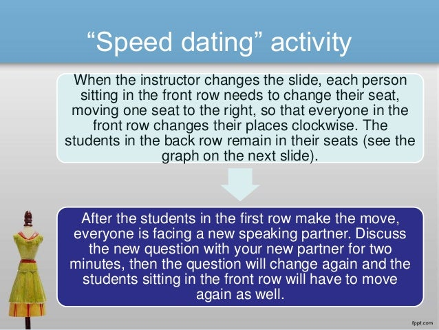 Activities for speed dating