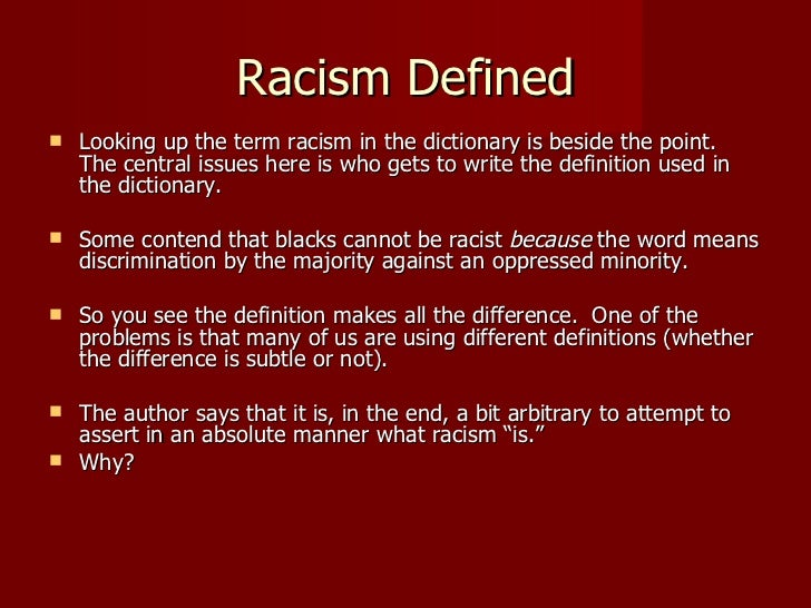 racism and discrimination essay