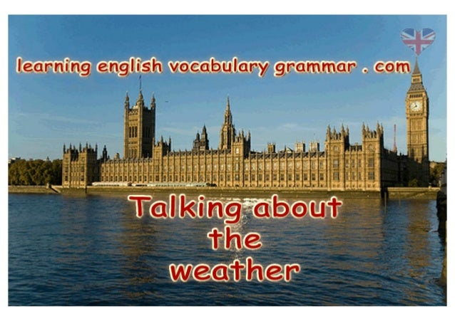 Learning how to talk about the weather learning basic English with pictures