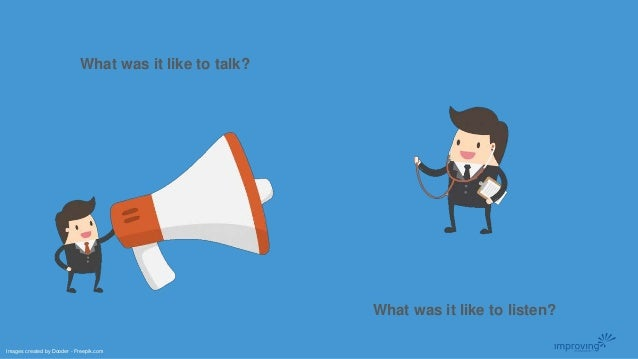 What was it like to talk? What was it like to listen? Images created by Dooder - Freepik.com
