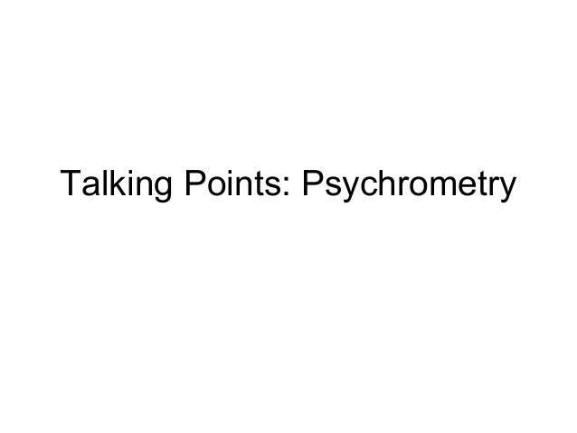 Talking Points: Psychrometry