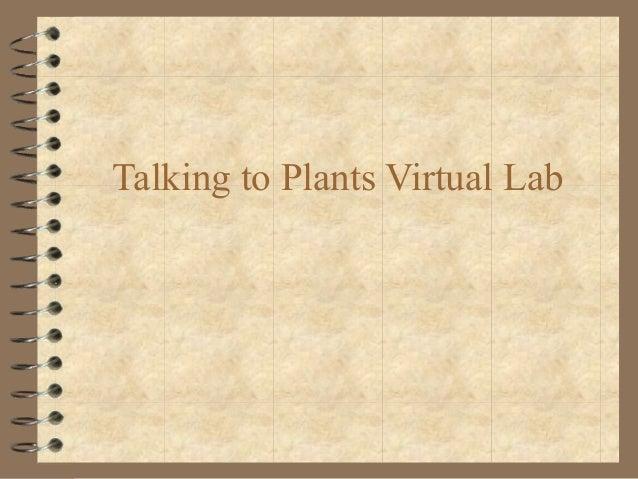 Talking to Plants Virtual Lab