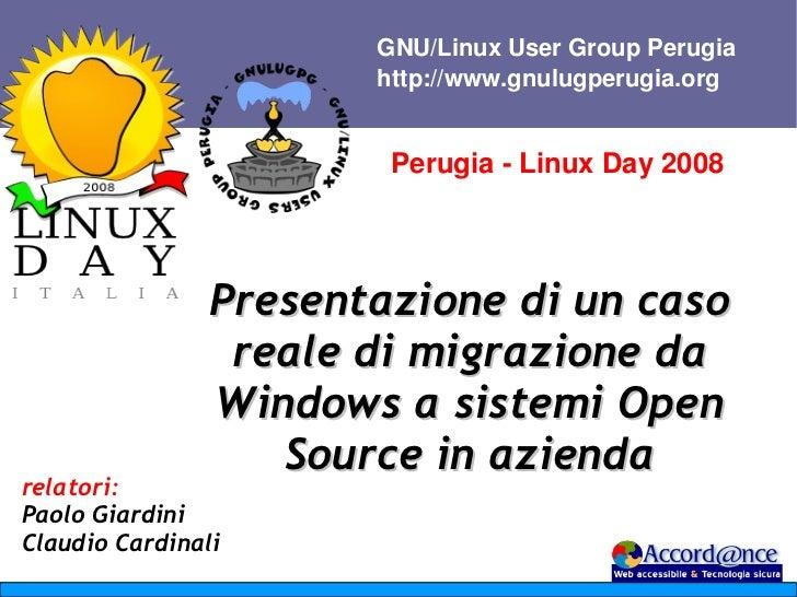 GNU/LinuxUserGroupPerugia                       http://www.gnulugperugia.org                        PerugiaLinuxDay...