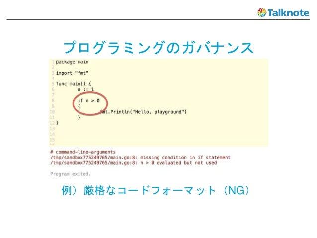 プログラミングのガバナンス 例)厳格なコードフォーマット(NG)
