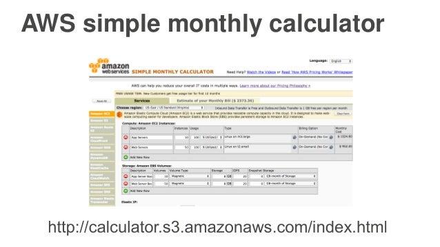 Aws calculator aws simple monthly calculator | estimate your.