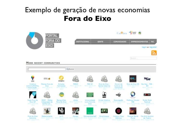 Exemplo de geração de novas economias           Fora do Eixo