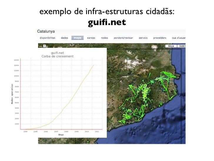 exemplo de infra-estruturas cidadãs:            guifi.net