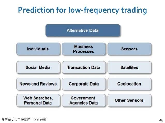 陳昇瑋 / 人工智慧民主化在台灣 Prediction for low-frequency trading 184