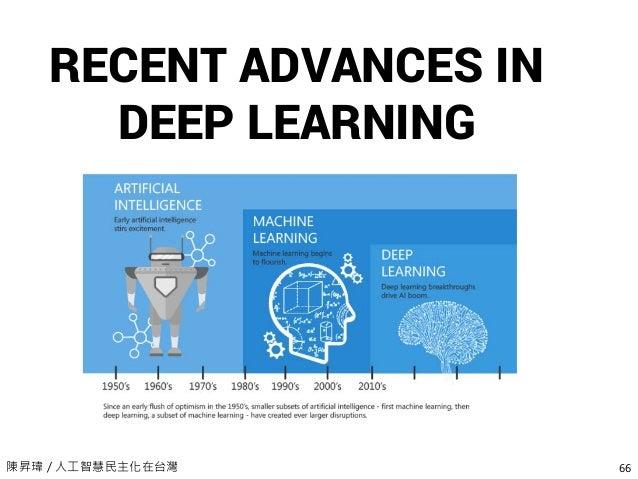 陳昇瑋 / 人工智慧民主化在台灣 66 RECENT ADVANCES IN DEEP LEARNING