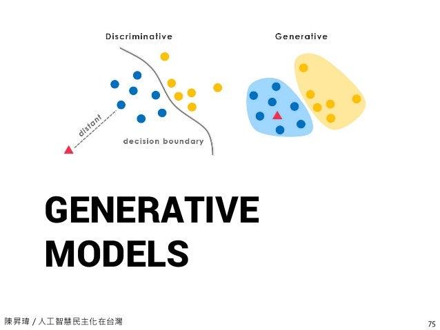 陳昇瑋 / 人工智慧民主化在台灣 GENERATIVE MODELS 75