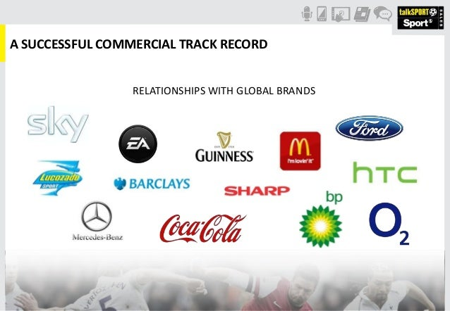 A SUCCESSFUL COMMERCIAL TRACK RECORDRELATIONSHIPS WITH GLOBAL BRANDS