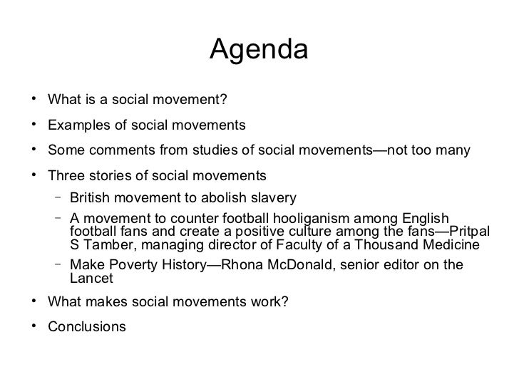 social movements essay example Essay contributes to the literatures on social movements and csr, extends   narrow areas as well consider for example the animal rights movement, the anti.