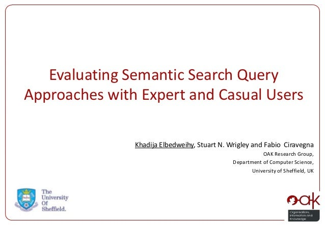 Evaluating Semantic Search QueryApproaches with Expert and Casual Users               Khadija Elbedweihy, Stuart N. Wrigle...