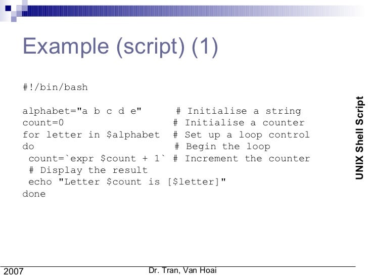 Talk Unix Shell Script 1