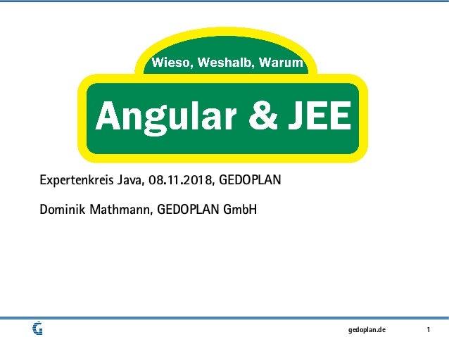 1gedoplan.de Expertenkreis Java, 08.11.2018, GEDOPLAN Dominik Mathmann, GEDOPLAN GmbH