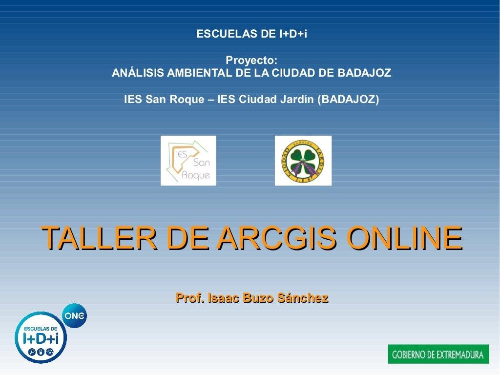 Taller de ArcGIS Online