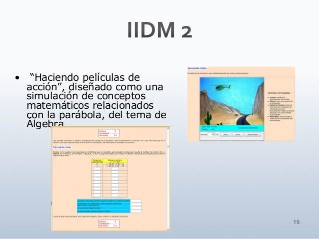 """16 • """"Haciendo películas de acción"""", diseñado como una simulación de conceptos matemáticos relacionados con la parábola, d..."""