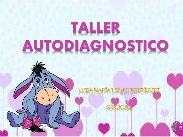 TALLER AUTODIAGNOSTICO