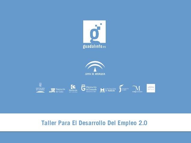 Taller Para El Desarrollo Del Empleo 2.0
