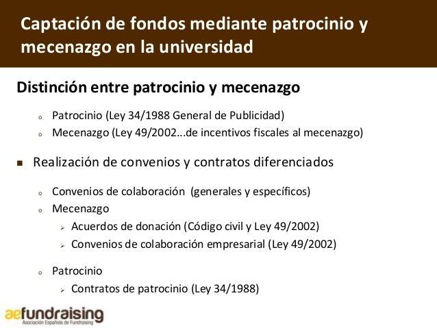 Ponencia fundraising en la universidad xii congreso de for Oficinas generales unav