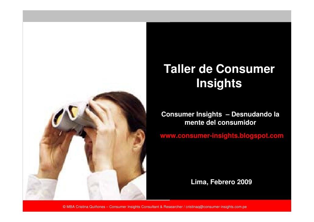 Taller de Consumer                                                                Insights                                ...