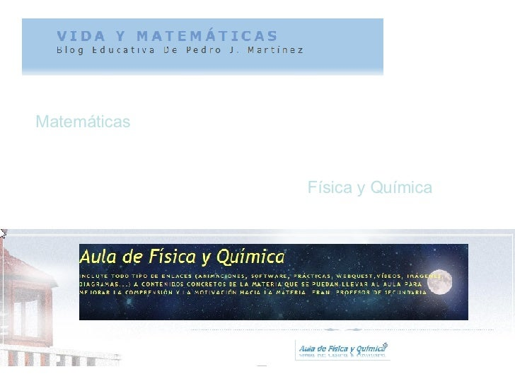 Matemáticas Física y Química