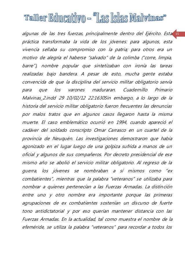 Taller educativo- Malvinas Argentina