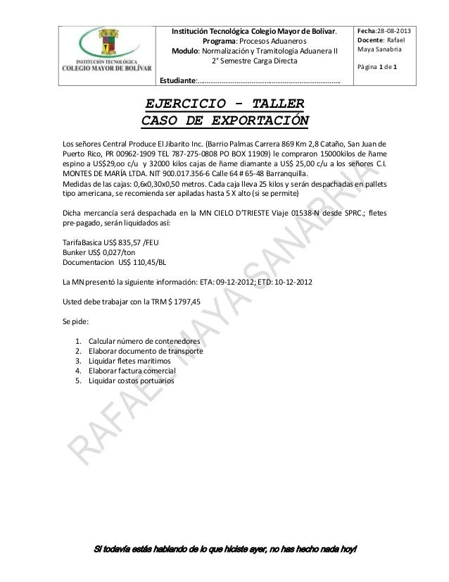 Institución Tecnológica Colegio Mayor de Bolívar. Programa: Procesos Aduaneros Modulo: Normalización y Tramitología Aduane...