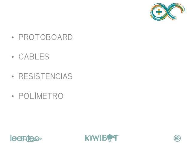 PRACTICANDO • PROTOBOARD • CABLES • RESISTENCIAS • POLÍMETRO