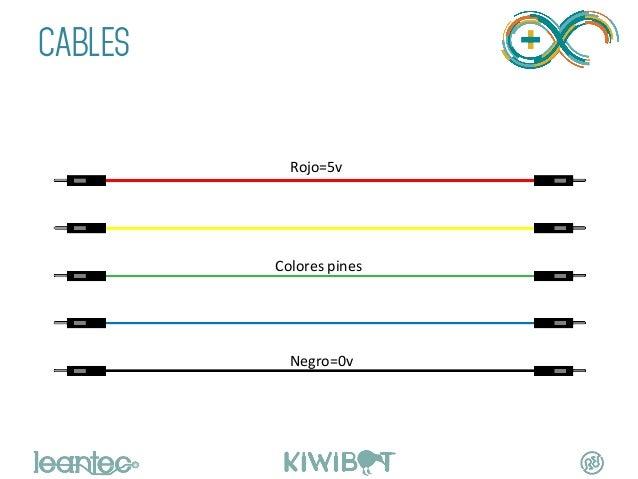 CABLES    Rojo=5v   Colores  pines   Negro=0v