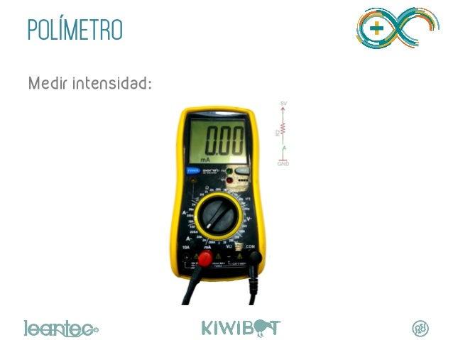 POLÍMETRO   Medir intensidad: