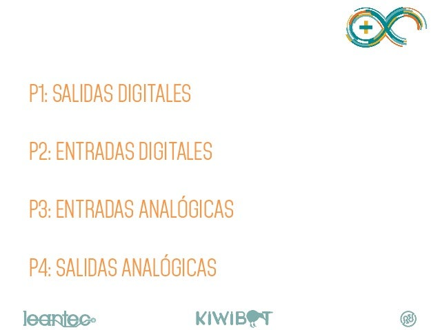 PRACTICAS P1: SALIDAS DIGITALES P2: ENTRADAS DIGITALES P3: ENTRADAS ANALÓGICAS P4: SALIDAS ANALÓGICAS