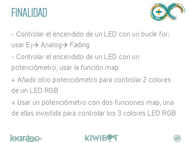 FINALIDAD - Controlar el encendido de un LED con un bucle for: usar Ejà Analogà Fading - Controlar el encendido de un LE...