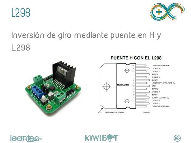 """L298 Inversión de giro mediante puente en H y L298 """""""