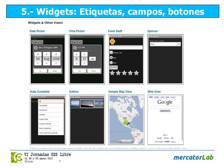 5.- Widgets: Etiquetas, campos, botones