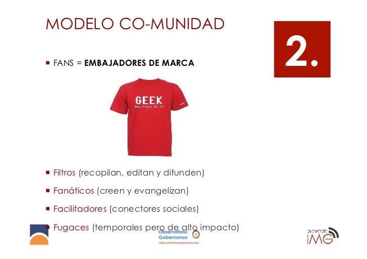 MODELO CO-MUNIDAD¡ FANS = EMBAJADORES DE MARCA                                    2.¡ Filtros (recopilan, editan y dif...