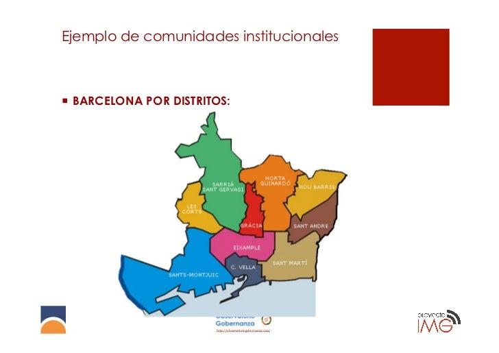 Ejemplo de comunidades institucionales¡ BARCELONA POR DISTRITOS:                         http://observatoriogobernanza.c...