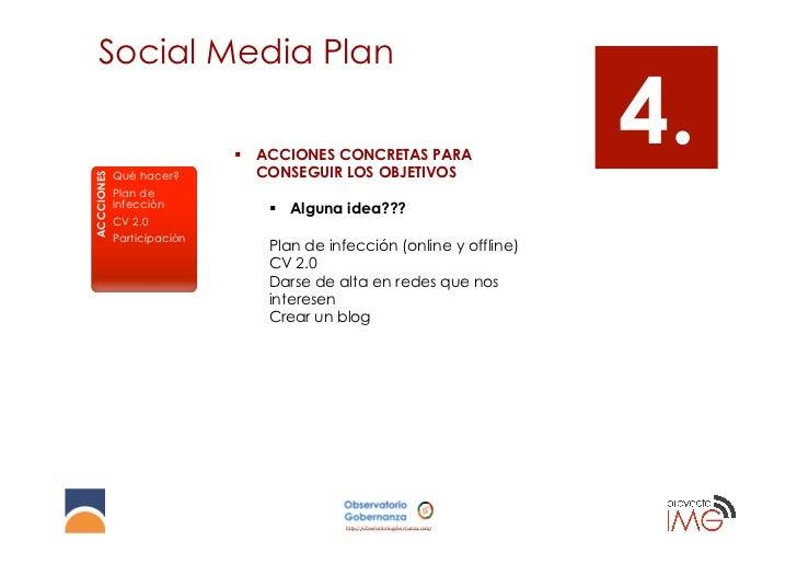 Social Media PlanACCCIONES            Qué hacer?                            § ACCIONES CONCRETAS PARA                   ...
