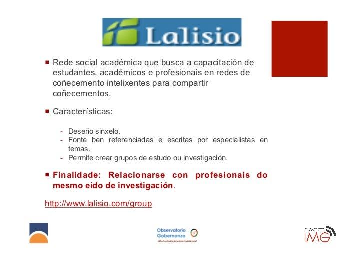 ¡ Rede social académica que busca a capacitación de    estudantes, académicos e profesionais en redes de    coñecemento ...