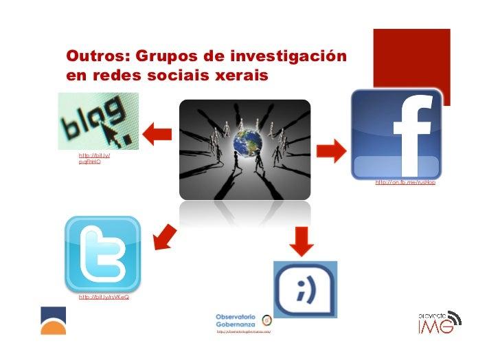 Outros: Grupos de investigaciónen redes sociais xerais http://bit.ly/ pqFhHO                                              ...