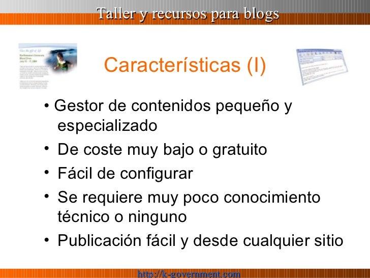 Taller y recursos para Blogs Slide 3