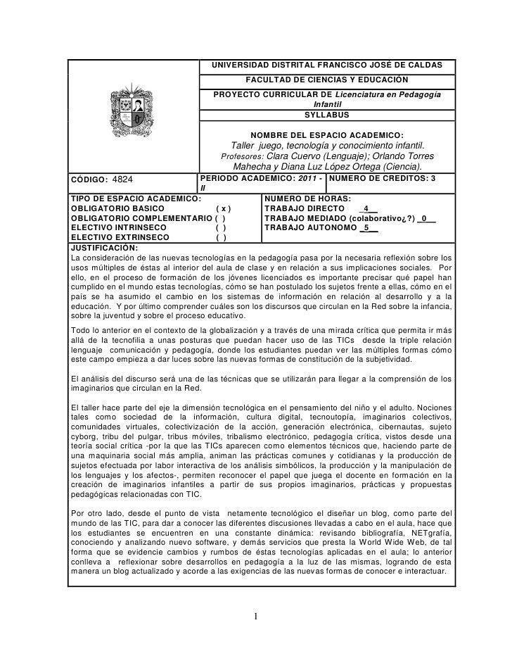 UNIVERSIDAD DISTRITAL FRANCISCO JOSÉ DE CALDAS                                               FACULTAD DE CIENCIAS Y EDUCAC...