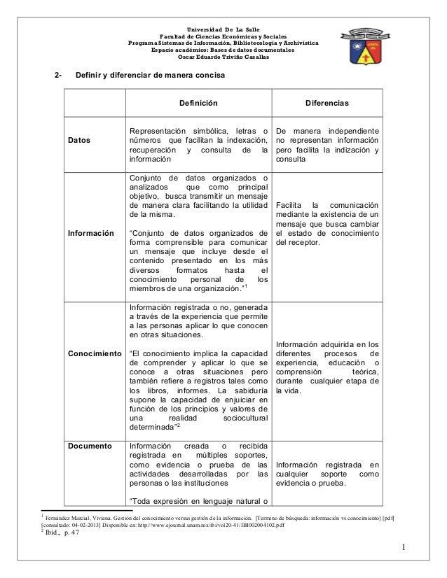 Universidad De La Salle                                             Facultad de Ciencias Económicas y Sociales            ...
