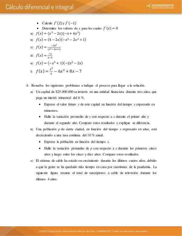 Taller cálculo diferencial Slide 2