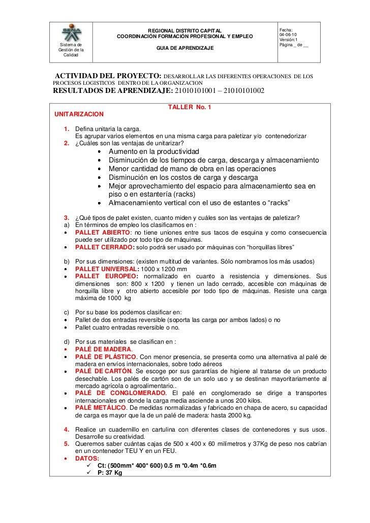 ACTIVIDAD DEL PROYECTO: DESARROLLAR LAS DIFERENTES OPERACIONES  DE LOS PROCESOS LOGISTICOS  DENTRO DE LA ORGANIZACION<br ...
