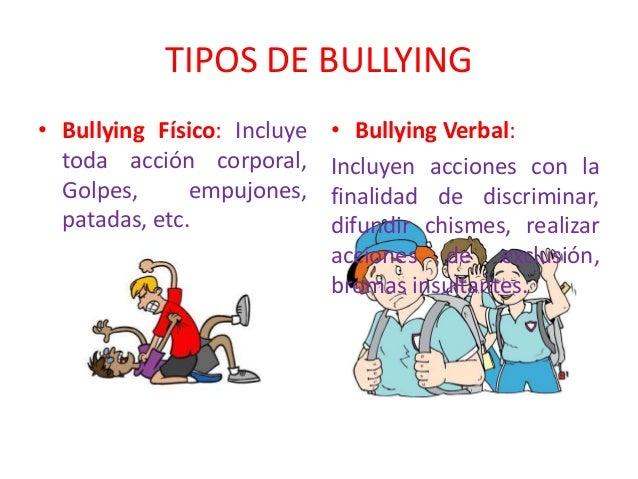 trabajo sobre el bullying