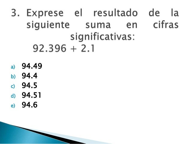 a) 94.49 b) 94.4 c) 94.5 d) 94.51 e) 94.6